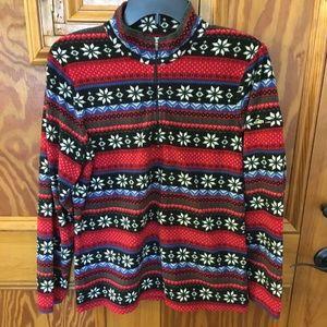Women's LL Bean quarter zip fleece size M